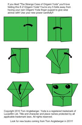 fold an ewok | OrigamiYoda | 412x270