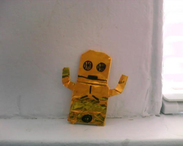 how to make origami c3po finger puppet