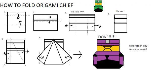Origami Master Chief Origami Yoda