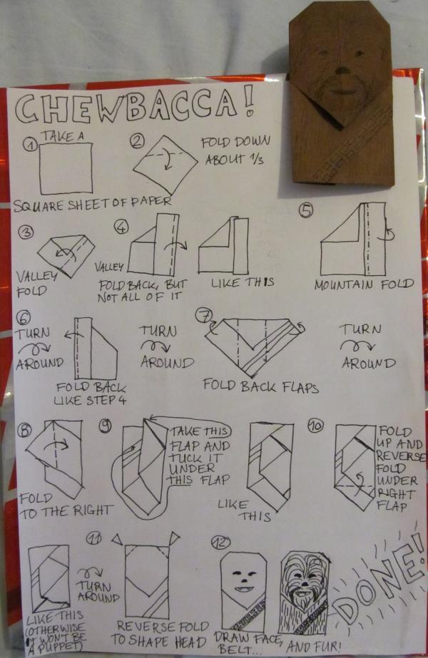 chewbacca instrux origami yoda