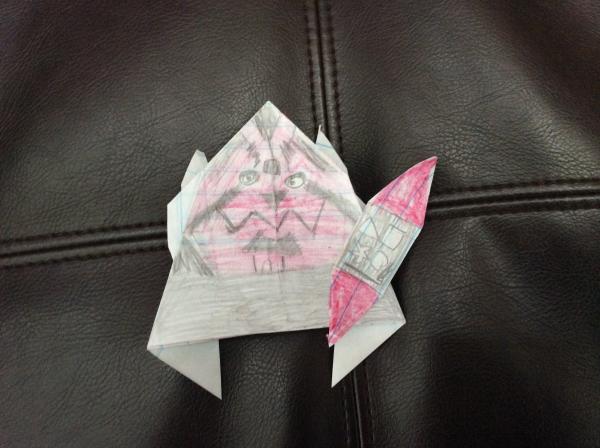 Darth Maul Instrux Origami Yoda