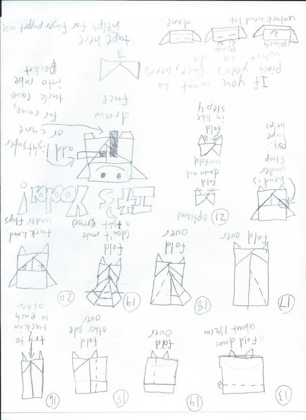 origami yoda instrux part 2 origami yoda