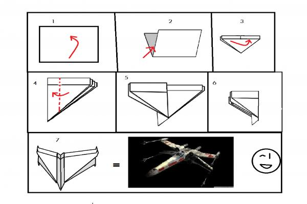 pin origami x wing all about on pinterest