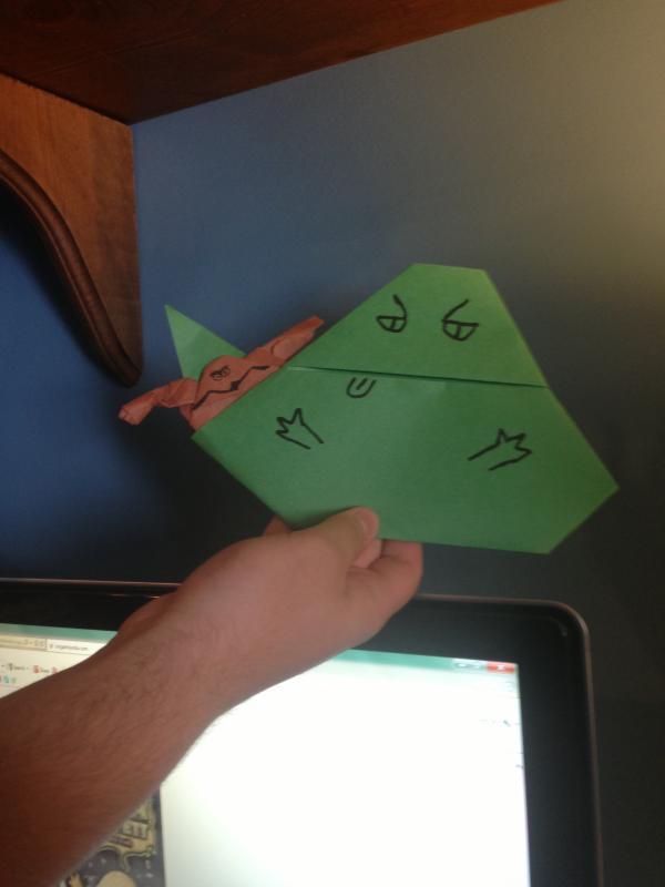 bobafett1212 and ydamasters jabbas origami yoda