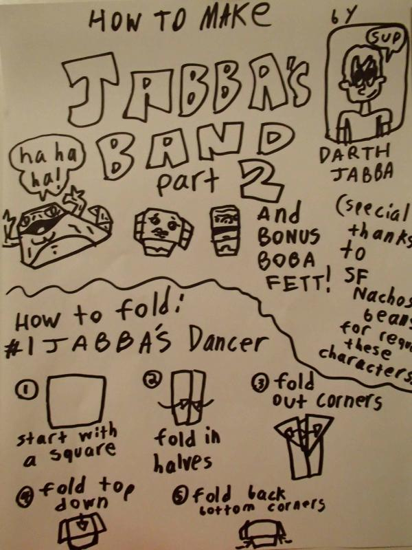 jabba the puppet instructions