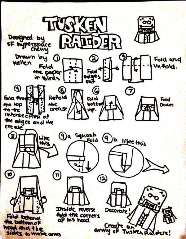 Darth Vader Origami Bookmark