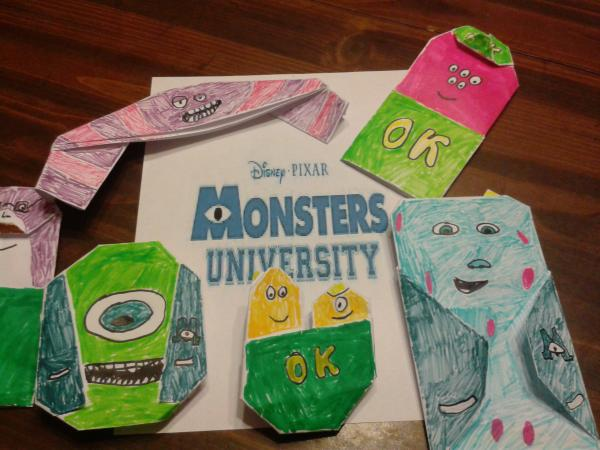 Misterstookypantss Monsters University Origami Origami Yoda
