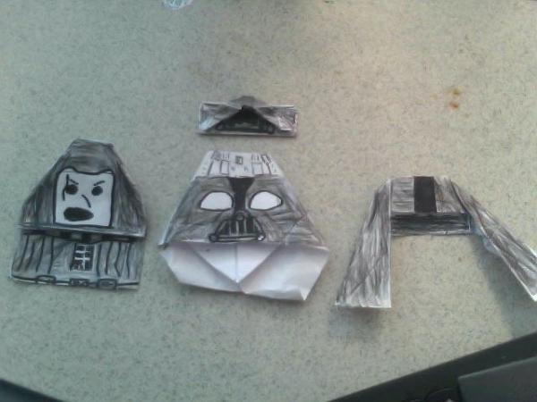 origami darth paper instructions
