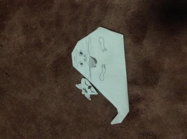 jabba and salacious crumb origami yoda