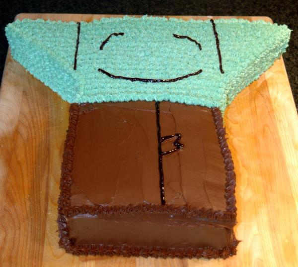 Origami Yoda Cake