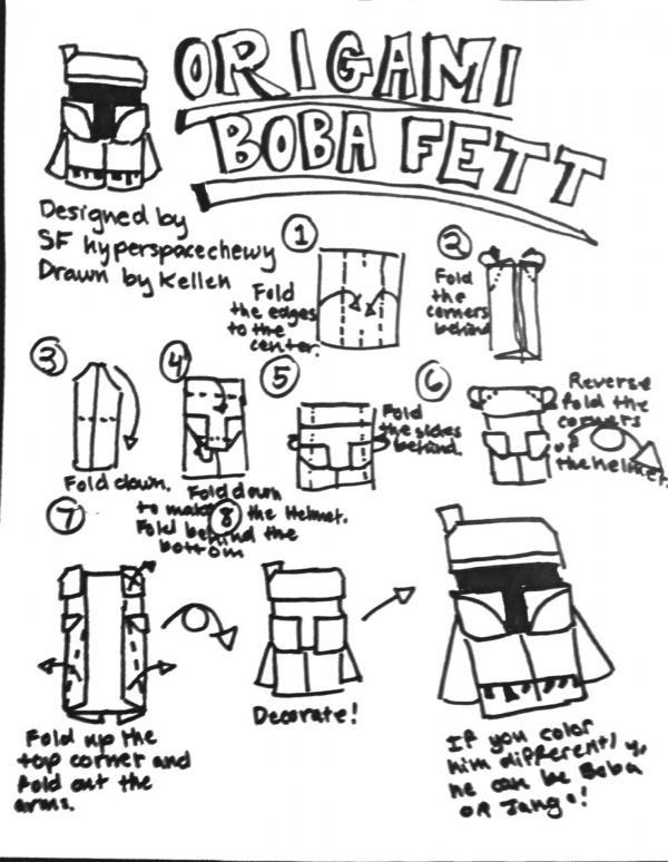 How To Make An Origami Boba Fett Finger Puppet