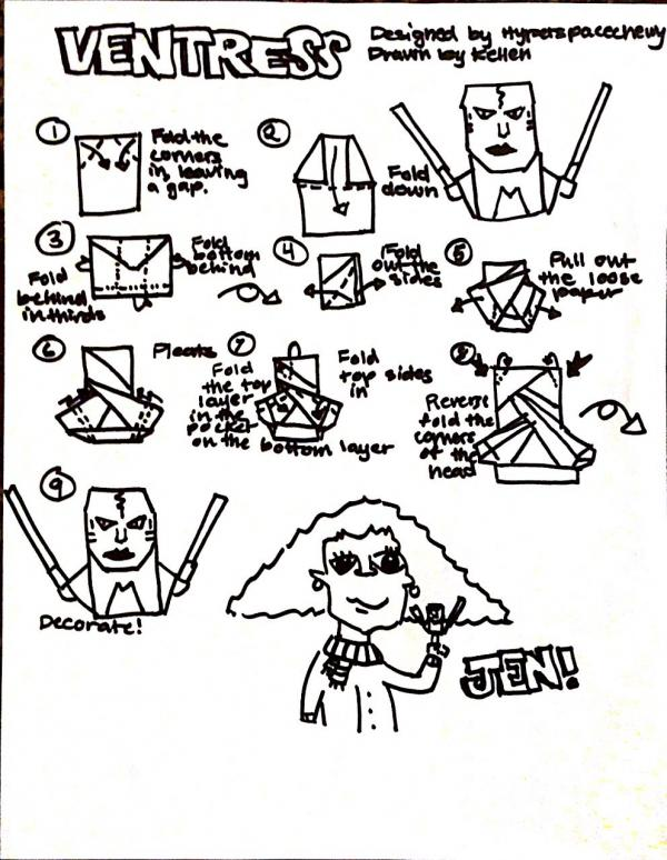 Origami Star Wars Clone Trooper Instructions