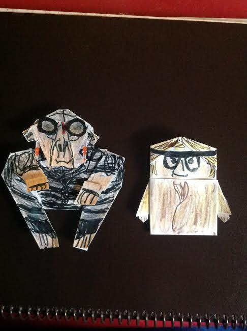 origami star wars finger puppet instructions