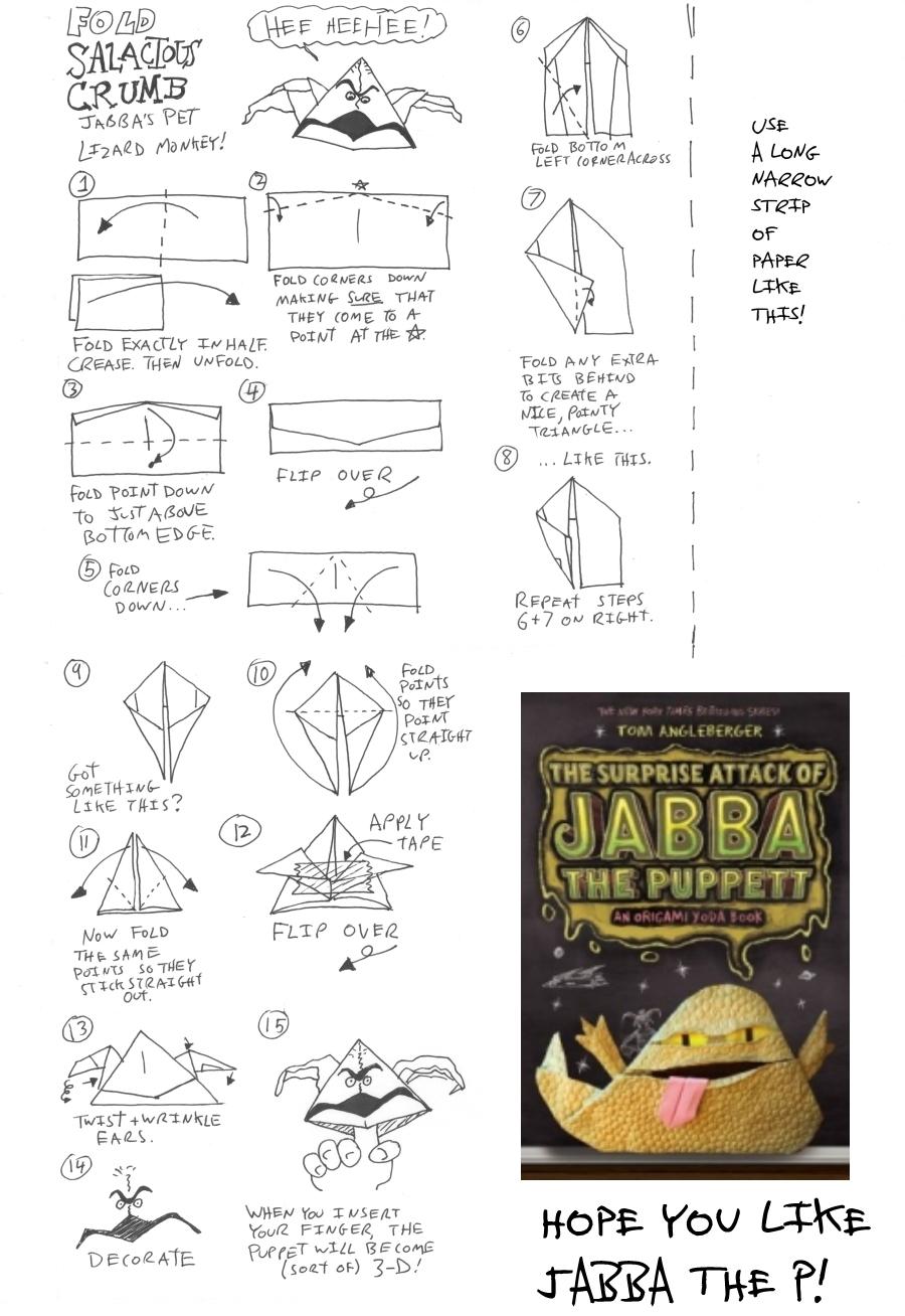 Cover Yoda instructions | Origami Yoda | 1308x900