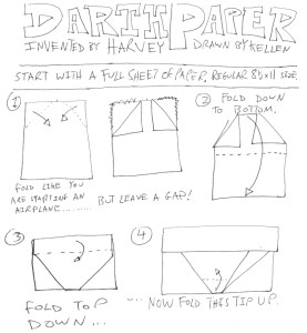 How to make an origami Darth Vader (Star Wars) - YouTube | 300x277