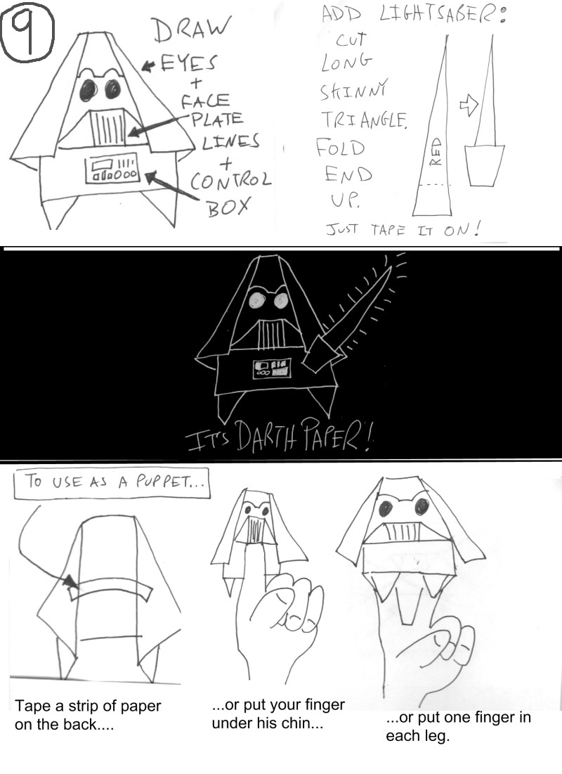 Star Wars & Star Trek Origami: fandom's delight. | 1101x800