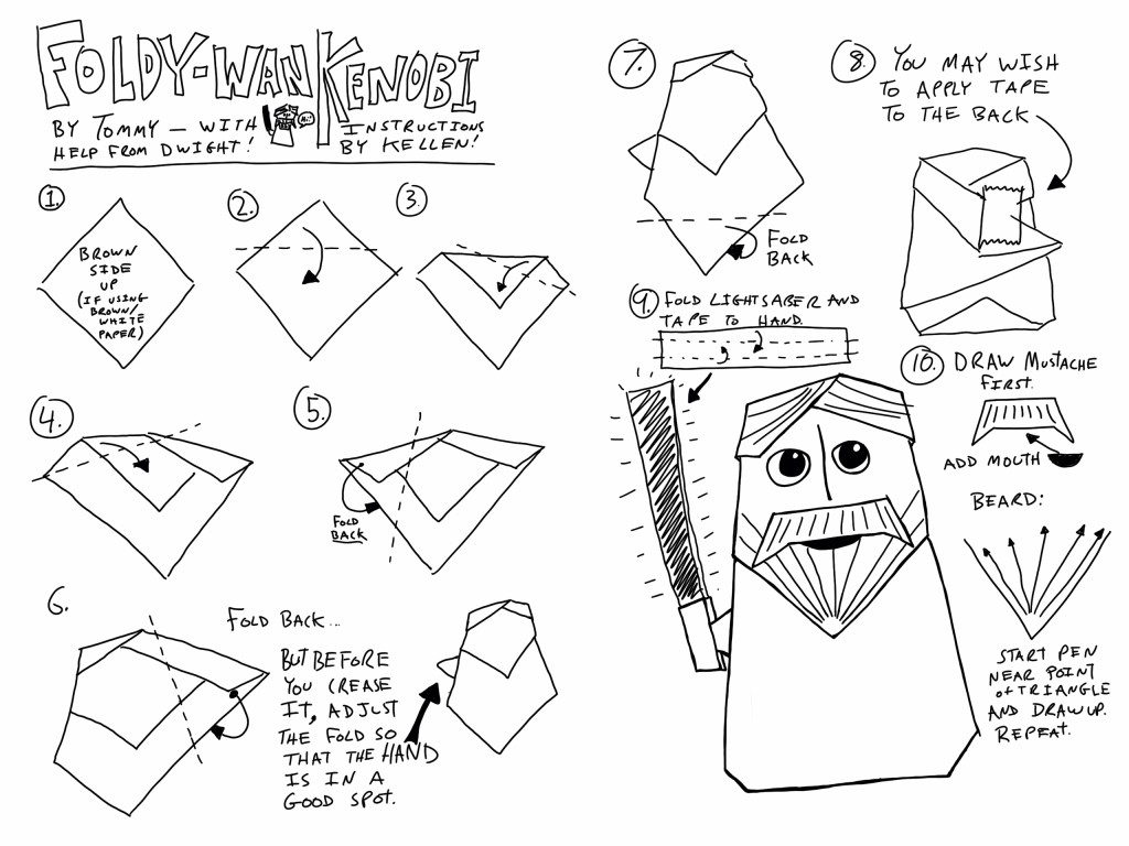 Star Wars Origami A List Of Online Diagrams For Folding Your Own Instructions Characters Creatures Droids Weapons