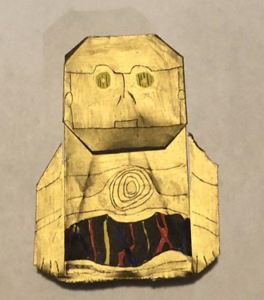C3PO Instux | Origami Yoda | 600x528