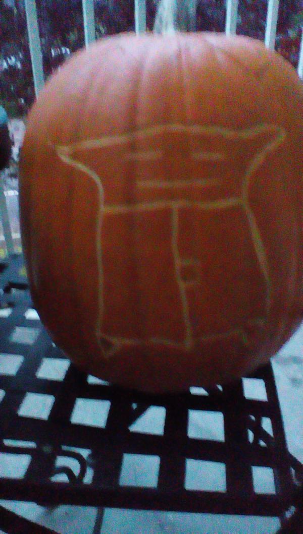 Halloween Yoda Pumpkin Origami Yoda
