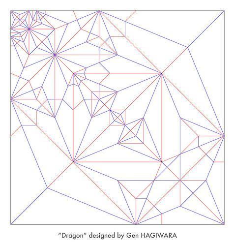 Origami Fiery Dragon instructions ( Kade Chan) - YouTube   500x478