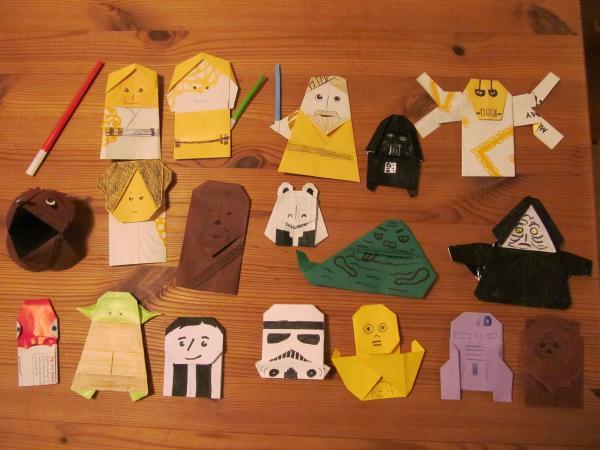 All Of My Star Wars Origami So Far Origami Yoda