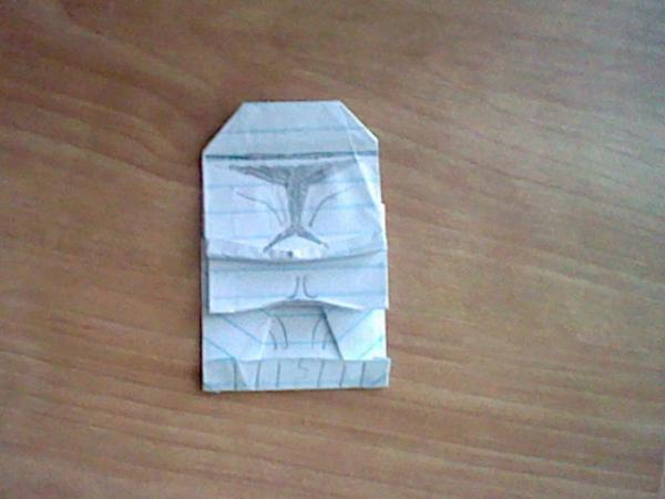 Origami Chewbacca instructions from SuperFolder BenR | OrigamiYoda | 450x600