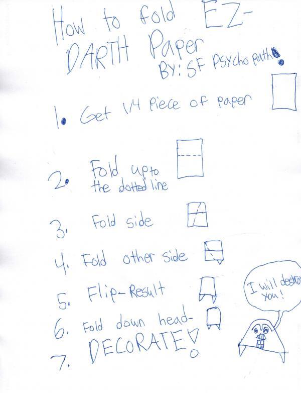 EZ Darth Paper Instruxs