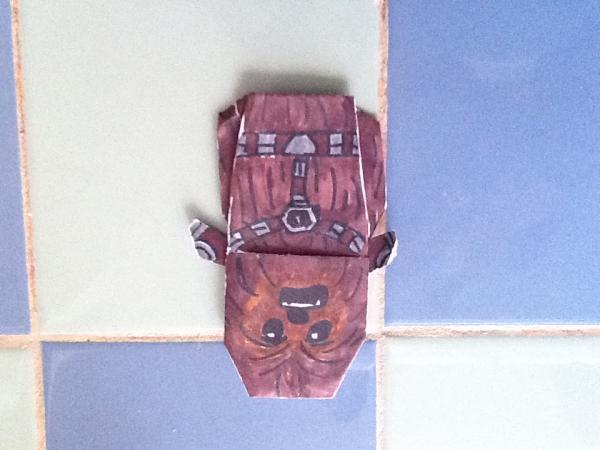 Origami Wookiee Warrior