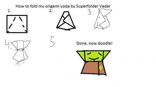 Simple Version of Cover Yoda | Origami Yoda | 337x600