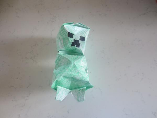 Minecraft Creeper Origami Yoda