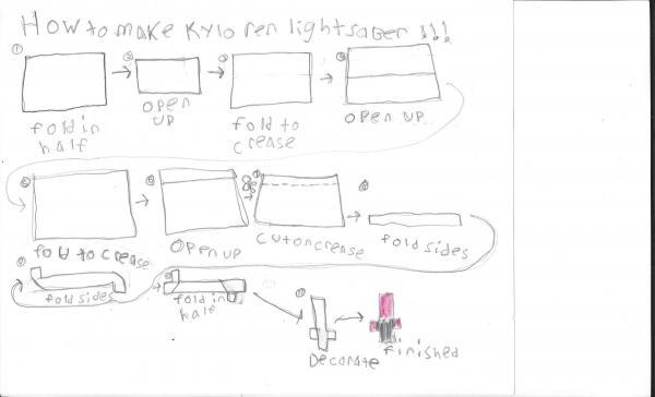 Instructions for Kylo Ren   Origami Yoda   364x600