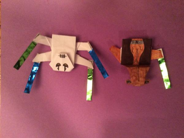 Origami General Grievous And The Ithorian Jedi Master Origami Yoda