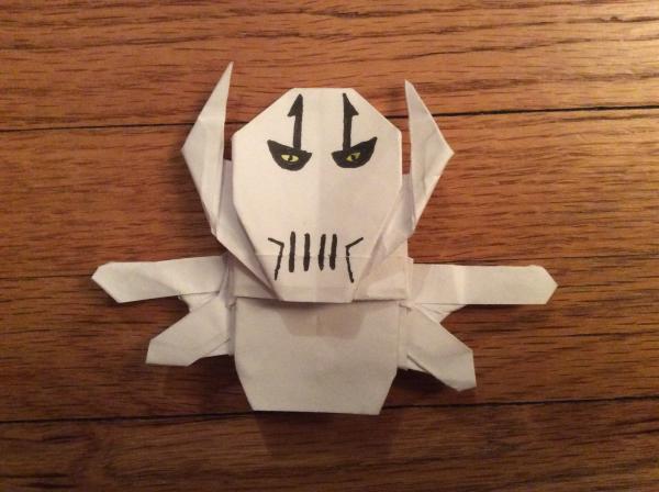Kirigami General Grievous Instrux | Origami Yoda | 448x600