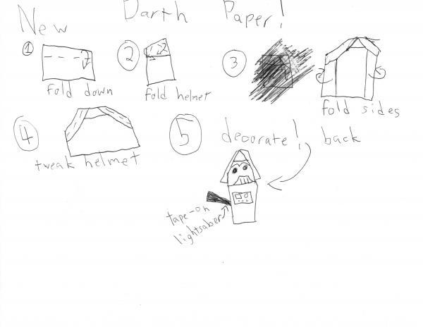 New Way To Fold Darth Paper