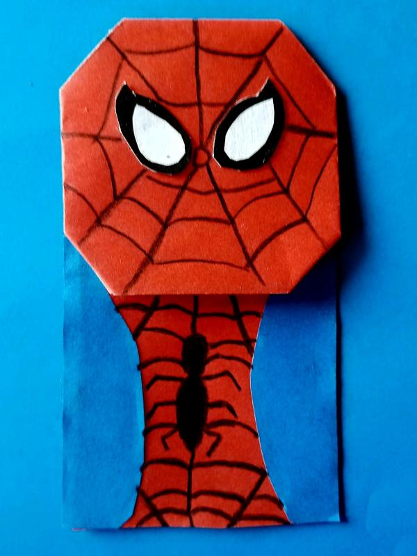 Osmec50 Origami Spider Man Easy Clipart Big Pictures Hd