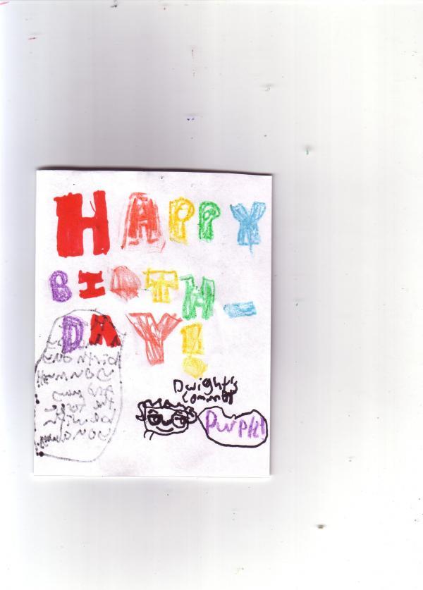 My Dads Birthday Card Origami Yoda