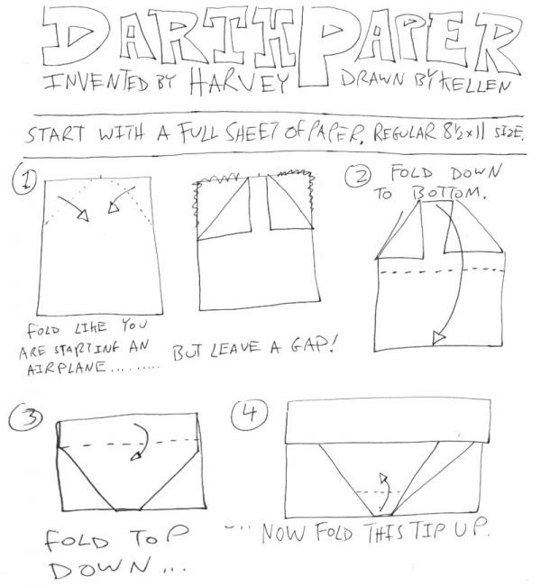 R2D2 cover instructions | Origami Yoda | 650x600