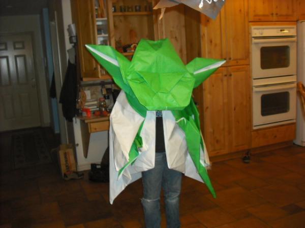 Halloween Origami Yoda Costume & Halloween Origami Yoda Costume   Origami Yoda