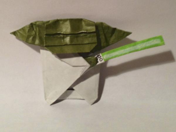 The Cover Yoda Origami Yoda