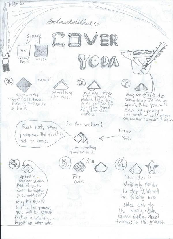 Cover Yoda Instructions Origami Yoda