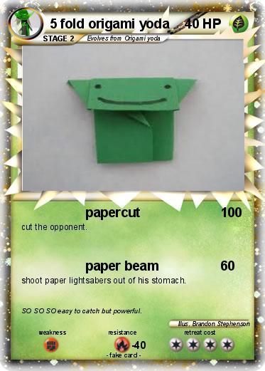 Fake Pokemon Card Origami Yoda Origami Yoda