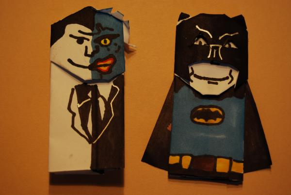 1960 Something Batman And Two Face Origami Yoda