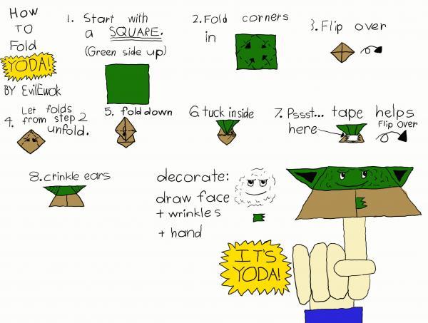 Origami Yoda Instructions Origami Yoda